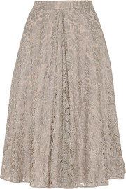 Needle & Thread Guipure lace skirt