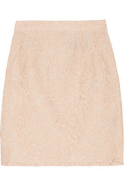 Needle & Thread Guipure lace mini skirt