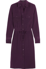 Caron silk shirt dress