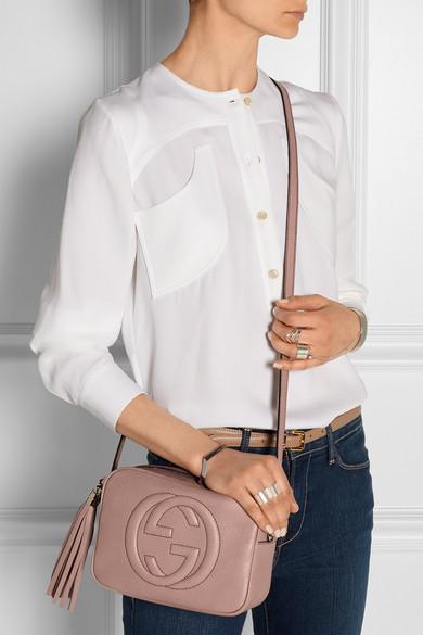 87fc5019436a Gucci   Soho Disco textured-leather shoulder bag   NET-A-PORTER.COM
