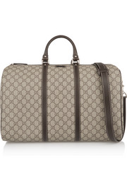 Gucci Joy Travel medium leather-trimmed coated canvas weekend bag