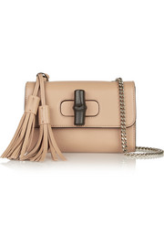 Linea C mini textured-leather shoulder bag
