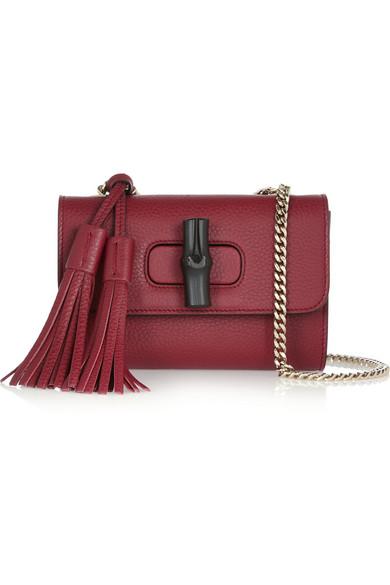 Linea C mini textured-leather shoulder bag