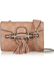 Emily mini embossed leather shoulder bag