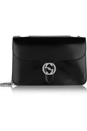 Linea B medium glossed-leather shoulder bag
