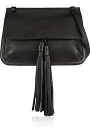 Bamboo Daily textured-leather shoulder bag