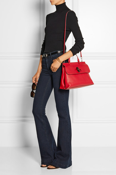 c8b4c8a23bbd77 Gucci | Bamboo Daily medium textured-leather tote | NET-A-PORTER.COM