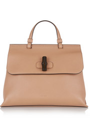 Bamboo Daily medium textured-leather tote