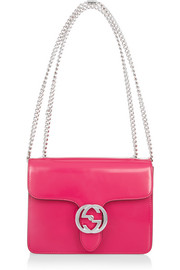 Linea B small patent-leather shoulder bag