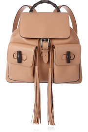 Bamboo Sac textured-leather backpack
