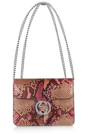 Linea B small python shoulder bag