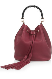 Linea C textured-leather bucket bag