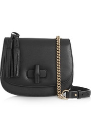 Linea C textured-leather shoulder bag