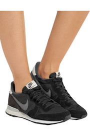 Internationalist suede, leather and mesh sneakers