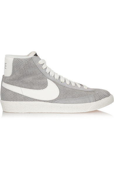 newest b4e74 6d34f Nike. Blazer perforated suede high-top sneakers