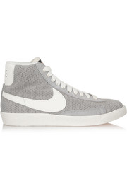Blazer perforated suede high-top sneakers