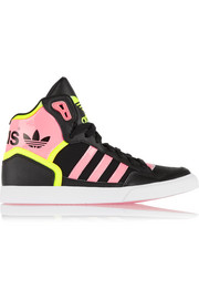 Extaball neon faux leather sneakers