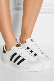 Superstar Foundation textured-leather sneakers