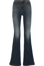 Demi high-rise flared jeans