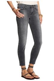 J Brand 9227 cropped mid-rise skinny jeans