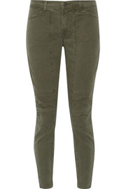 J Brand Ginger stretch-cotton twill skinny pants