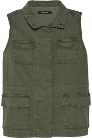 Arden cotton-blend canvas vest