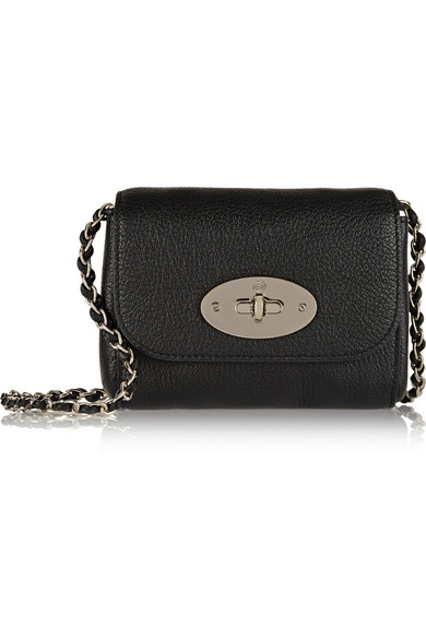 4af2a9a81a Mulberry. Lily mini textured-leather shoulder bag