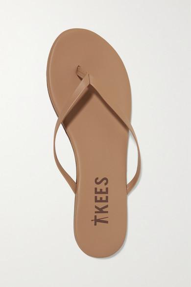 Einkaufen Outlet Online TKEES Lily Flip-Flops aus mattem Leder Spielraum 2018 Neueste Online-Verkauf Online Auslass Bestseller Günstig Kaufen 2018 Neue 0Fh0uPEqqq