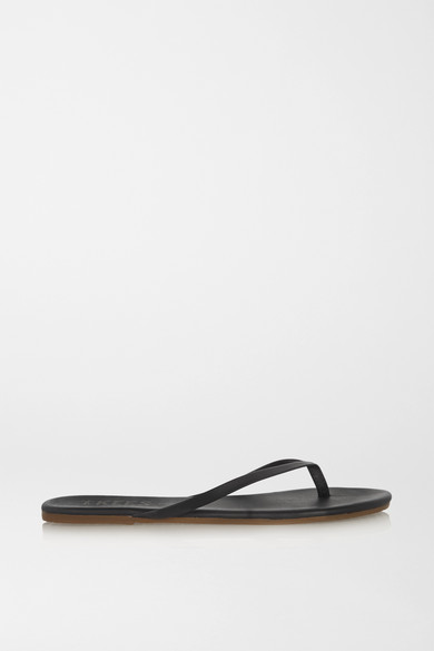 tkees female tkees lily matteleather flip flops black