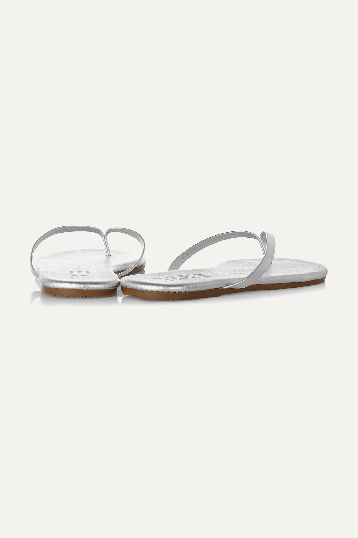 TKEES Lily metallic leather flip flops