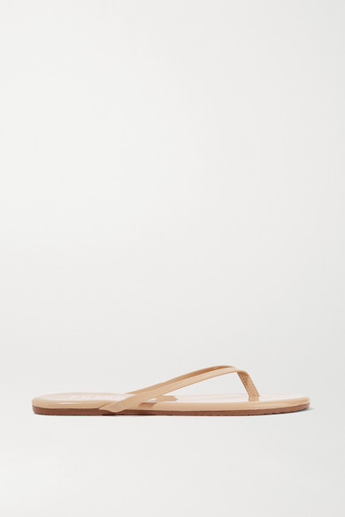 Lily Patent-leather Flip Flops - Beige Tkees T0DsBq