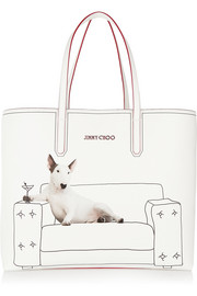 Jimmy Choo Martini printed coated canvas tote
