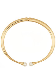 Chloé Darcey gold-plated faux pearl choker