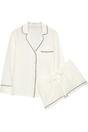 Equipment Lilian washed-silk pajama set