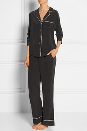 Avery washed-silk pajama set