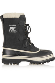 Caribou waterproof suede and rubber boots