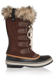Joan of Arctic waterproof suede and leather boots