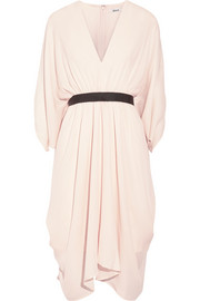 Ness belted silk-georgette dress
