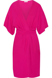 Geri stretch-crepe wrap-effect dress