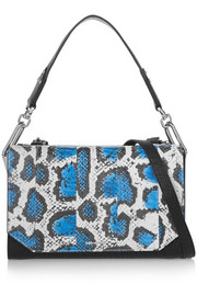 Vail leopard-print elaphe and textured-leather shoulder bag