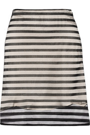 Striped tulle mini skirt