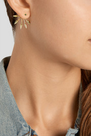 5 Spike gold-plated earrings