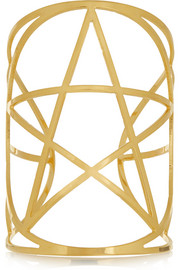 Mini Pentagram gold-plated cuff