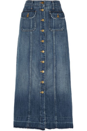 The Sally denim midi skirt