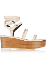 Aiko leather platform sandals