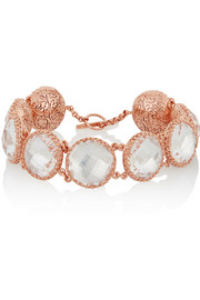 Olivia Button rose-gold dipped topaz bracelet
