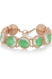 Olivia Button rose gold-dipped topaz bracelet