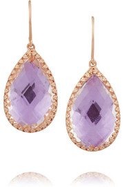 Sophia rose gold-dipped topaz earrings
