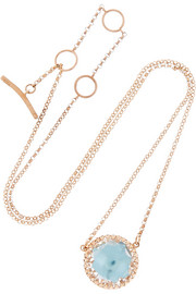 Olivia Button rose gold-dipped  topaz necklace