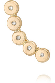 Melissa Joy Manning 14-karat gold diamond earring